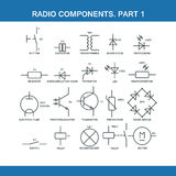 Designation of components in the wiring diagram Royalty Free Stock Photo