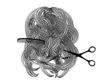 Designazione dei capelli royalty illustrazione gratis