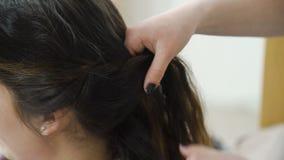 Designazione dei capelli delle ragazze di bellezza di svago degli amici stock footage
