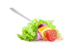 Designazione fresca dell'alimento dell'insalata Fotografia Stock Libera da Diritti
