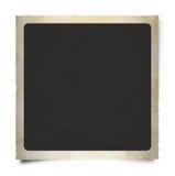 Designazione quadrata e retro del blocco per grafici del Polaroid. Fotografia Stock