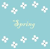 Designbaner med våren Blommar garneringen Vektorillustration EPS10 Arkivbilder