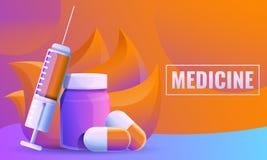 designbegrepp om medicin stock illustrationer