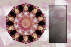 Designbeståndsdelar med abstrakt begreppmellanrumsbanret Royaltyfria Foton
