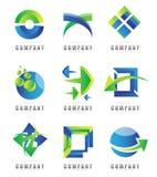 Designbeståndsdellogoer Arkivbilder