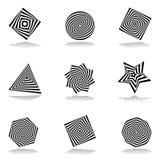 Designbeståndsdeluppsättning. Abstrakta symboler. stock illustrationer