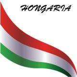 Designbest?ndsdel f?r HONGARIA-nationsflaggan - vektor stock illustrationer