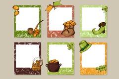 Designbröllopram Dekorativa fotoramar för valentin dag Vecotr illustration Arkivbilder