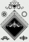 Designdekor med prydnaden för vinkelsida Arkivfoto