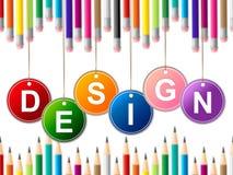 Designdesignen visar modellplan och orienteringar Royaltyfria Foton