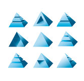 Designe de logo de pyramide Photo stock