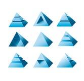 Designe di logo della piramide Fotografia Stock