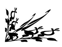 Designe faisant le coin fleuri Illustration Stock