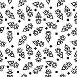 Designe nero di Dot Background di Polka royalty illustrazione gratis