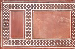Designe und Schnitzen auf dem Eingangstor von Taj Mahal Lizenzfreie Stockfotografie