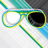 Designed abstract banner. With sunglasses Stock Image