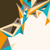 Designed abstract illustration. Designed abstract illustration with angular shapes Stock Photography
