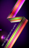 Designed abstract light background  with technology lines. Stock Images