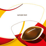 Designed american footbal. Designed american footbal layout with abstraction Royalty Free Stock Images