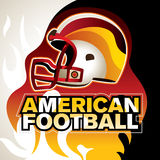 Designed american football banner. With helmet Royalty Free Stock Images