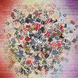 Designed background. Digital collage made of newspaper clippings Stock Photos