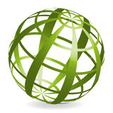 Designed Ball. A colored 3D ball with abstract pattern Royalty Free Stock Photos