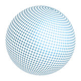 Designed Ball. A colored 3D ball with abstract pattern Stock Image