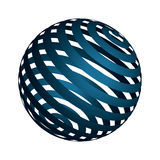 Designed Ball. A colored 3D ball with pattern Royalty Free Stock Photo