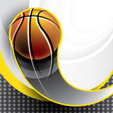 Designed basketball banner Stock Image