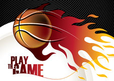Designed basketball banner Royalty Free Stock Images