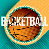 Designed basketball banner. Designed basketball banner with abstract elements Stock Photos