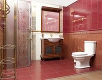 Designed bathroom in luxury modern house. Stylish designed bathroom in luxury modern house stock photos