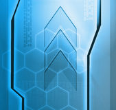 Designed blue technology background Stock Image
