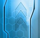 Designed blue technology background Stock Image