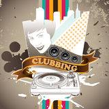 Designed clubbing banner Stock Image