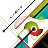 Designed colorful layout. Designed colorful layout with abstract composition Stock Images