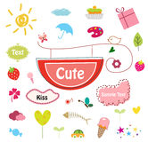 Designed cute elements Royalty Free Stock Image