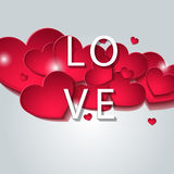 Designed for the day of Valentine. Love. Designed for the day of Valentine Royalty Free Illustration
