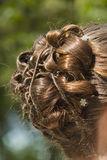 Hair style of bride Royalty Free Stock Photos
