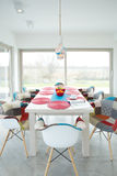 Designed dining area inside new house Royalty Free Stock Photography
