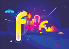 Designed Funk. Original vector funk-font illustration Royalty Free Stock Images