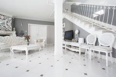Designed furniture in classic interior. View of designed furniture in classic interior Stock Photos