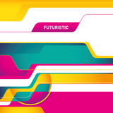 Designed futuristic abstraction. Designed futuristic abstract layout in color Royalty Free Stock Photo