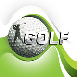 Designed golf background. Designed golf background with stylized shapes Stock Images