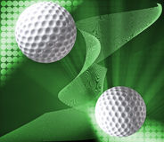 Designed golf background Royalty Free Stock Photos