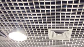 Designed interior ceiling with wood. royalty free stock photography