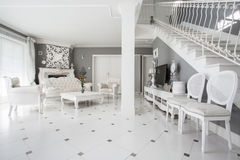 Designed interior of expensive residence Royalty Free Stock Photos