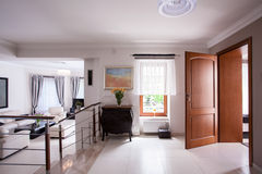 Designed interior in luxury residence Stock Photos