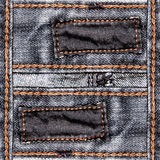 Designed jeans background Royalty Free Stock Photos