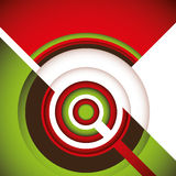 Designed modern abstraction. Designed modern abstraction with circles Royalty Free Stock Photo